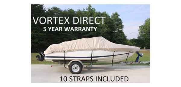 Tan/Beige Vortex Heavy Duty Boat Cover