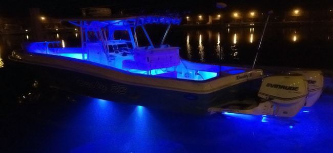 how to take care of underwater boat lights